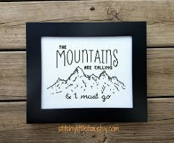 john muir dog quote the mountains are calling cross stitch pattern john muir quote