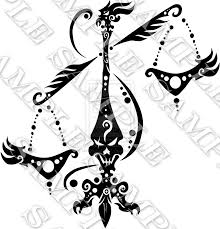tribal zodiac libra scales tattoo design photos pictures and