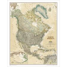 North America Map by North America Executive Wall Map National Geographic Store