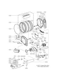 drum u0026 motor diagram and parts list for lg dryer parts model