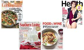 cooking light subscription status food or lifestyle magazine cooking light food wine health and