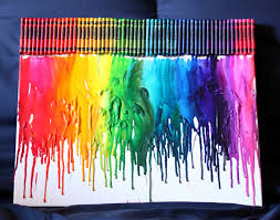 Remove Crayon From Wall by How To Make Rainbow Melted Crayon Art