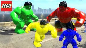 blue hulk hulk transformation red hulk yellow hulk lego
