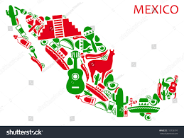 Maps Of Mexico by Map Mexico National Symbols Stock Vector 115736797 Shutterstock