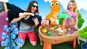 kids playing with step 2 water table u0026 extreme roller coaster