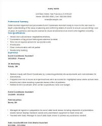 Coordinator Resume Examples by Sample Event Coordinator Resume 8 Examples In Word Pdf