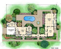 House Plans With Courtyard by Villa Di Vino Courtyard House Plan Small Luxury House Plans