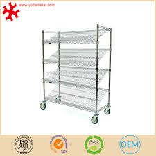 Shelves With Wheels by Supermarket Metal Wire Bread Display Rack Shelves With Wheels