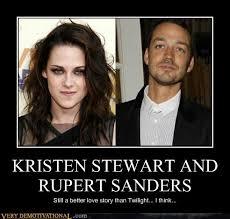 Kristen Stewart Meme - kristen stewart and rupert sanders very demotivational
