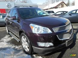 chevrolet traverse blue 2009 chevrolet traverse ltz awd in dark cherry metallic 126293