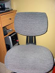How To Cover A Chair Seat How To Re Cover An Ugly Office Chair Joyful Abode