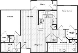 2 Bed Floor Plans by 2 Bedroom 2 Bath Floor Plans
