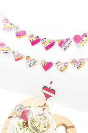 make your own washi tape heart garland