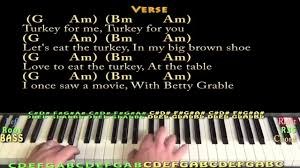 the thanksgiving song adam sandler piano cover lesson with
