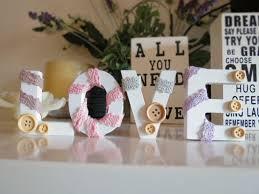 oggetti decorativi casa tutorial fai da te come realizzare romantiche lettere per