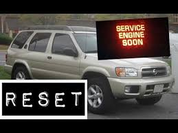 service engine light on nissan how to reset service engine soon light on a 2003 nissan pathfinder