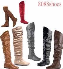 slouchy thigh high boots ebay