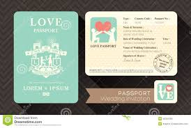 Wedding Invitation Card Design Template Passport Wedding Invitation Stock Vector Image 40341259