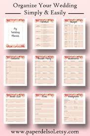wedding planning list ideas interesting diy wedding checklist morgiabridal