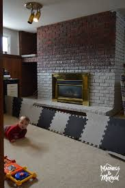 dry brush bricks fireplace makeover madness u0026 method