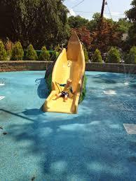 water slide home pool backyard design ideas