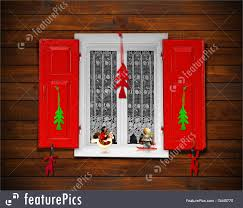 Christmas Window Decorations by Christmas Window Illustration