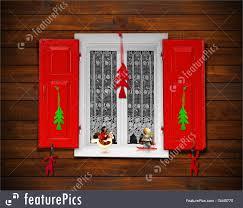 Christmas Window Decorations by Christmas Window Illustration