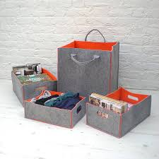 portrait of felt storage bins offering stylish storage for your