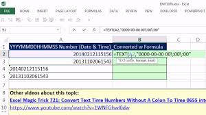 excel magic trick 1076 convert date time values to serial numbers