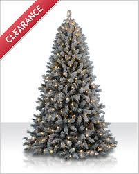 7 foot fairbanks flocked clear tree tree market