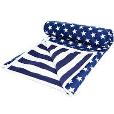 stars and stripes bassinet and cot comforter set in navy