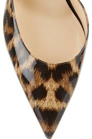 christian louboutin iriza 70 leopard print patent leather pumps in