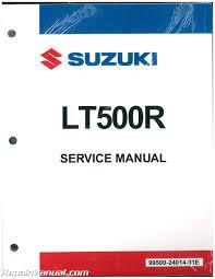 1987 1990 suzuki lt500r quad racer two stroke atv service manual
