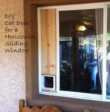 Weather Stripping For Sliding Glass Doors by Down To Earth Diy Cat Door Horizontal Sliding Window