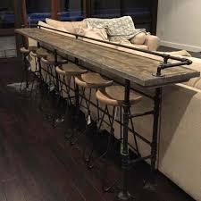 industrial bar table and stools i am seriously in love bar for behind the chairs in the media room