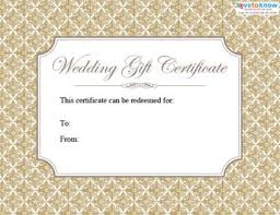 wedding gift card ideas printable wedding gift certificates lovetoknow