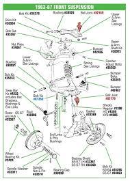 c2 corvette rear suspension corvette parts c2 1963 1967 front suspension