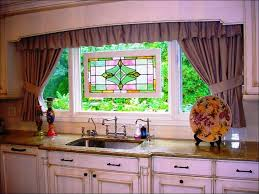 Black And Red Kitchen Curtains by Kitchen Yellow And Gray Kitchen Curtains Waterfall Valance Red