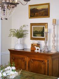 Decorate A Vase Remodelaholic How To Decorate A Buffet