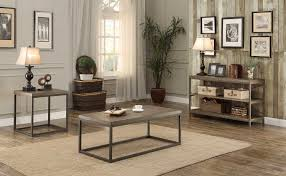 homelegance daria coffee table set weathered wood table top with