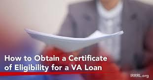 va loan va eligibility certificate for va loan