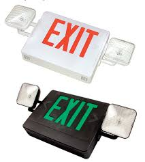 exit emergency light combo exit signs combo exit lighting combination series sq mule