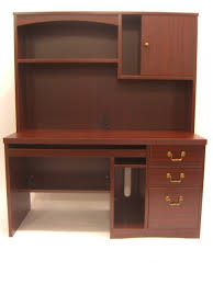 Mahogany Computer Desk Mahogany Computer Desk With Optional Hutch Ofco Office Furniture