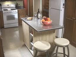 wood kitchen island top circle white cushion bar stools with metal leg metal island