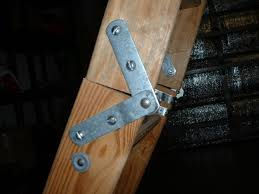 attic ladder needs new hinge or reinforcement of some kind