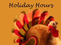 thanksgiving announcement hours for all our clinics are the same