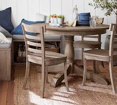 acme wallace dining table weathered blue washed appealing weathered grey dining table owen extending pedestal gray