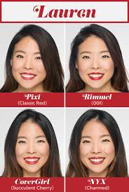 Get The Rimmel Look Meme - here s how different shades of red lipstick look on 4 women