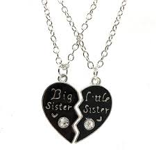 heart couple necklace images Wholesale unique personalized gift for family big sister little jpg