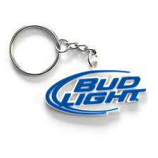 Bud Light Logo Light Rubber Beer Logo Keychain